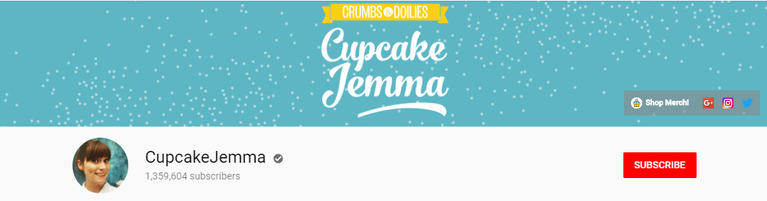 cupcake jemma youtube channel