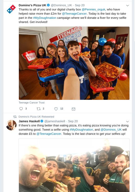 Dominos Twitter