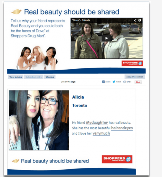 dove real beauty social media campaign