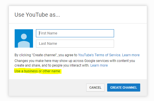 Use YouTube As