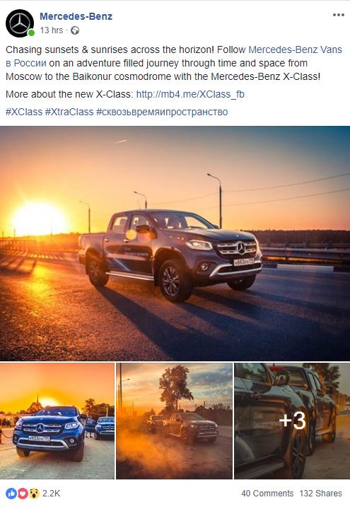 Mercedes Facebook Post