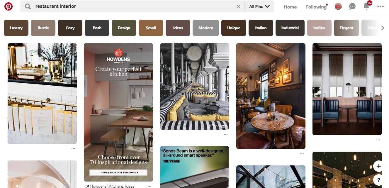 Restaurant Pinterest