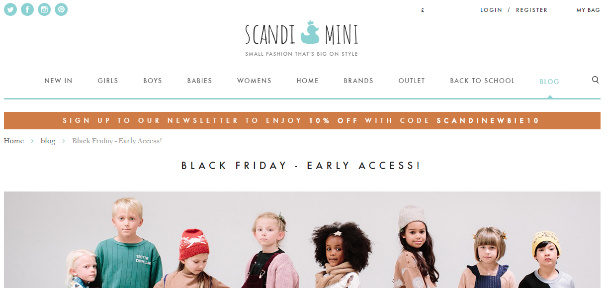 Scandi Mini Black Friday Marketing