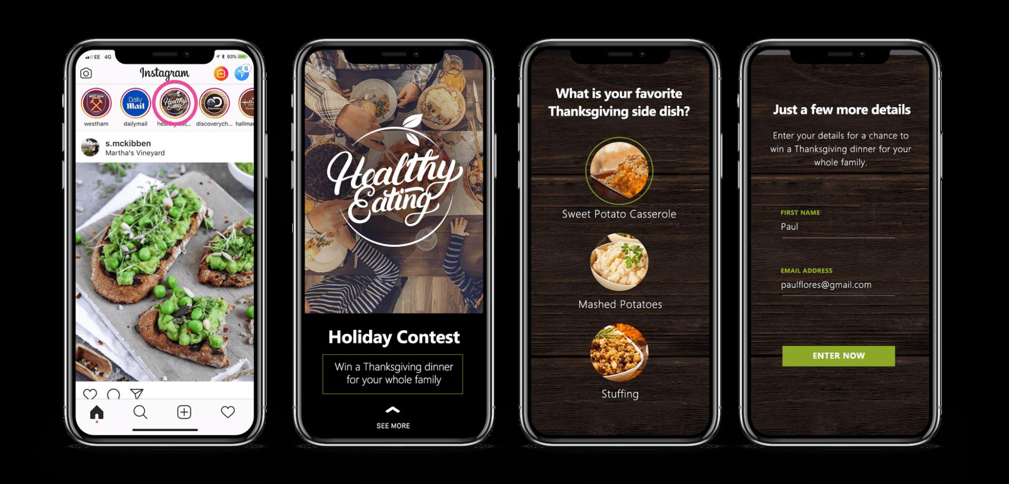 Instagram Stories Thanksgiving Marketing