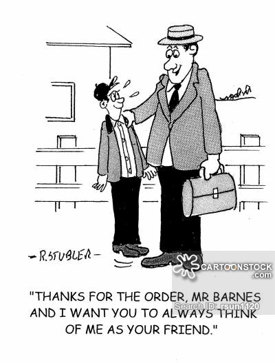travelling salesman cartoon