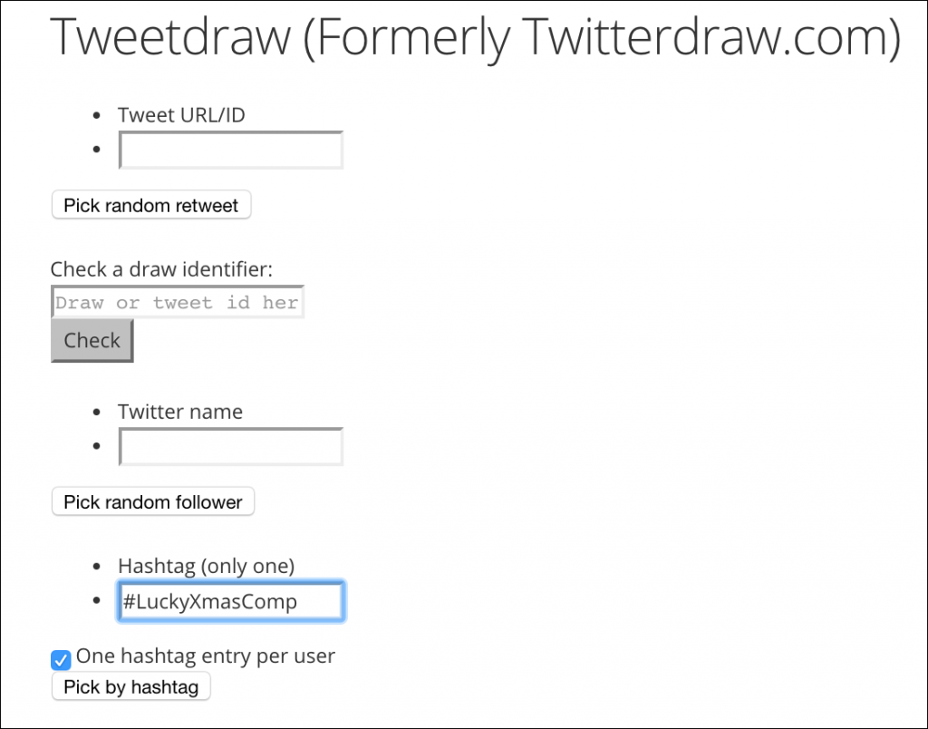 tweetdraw twitter competition