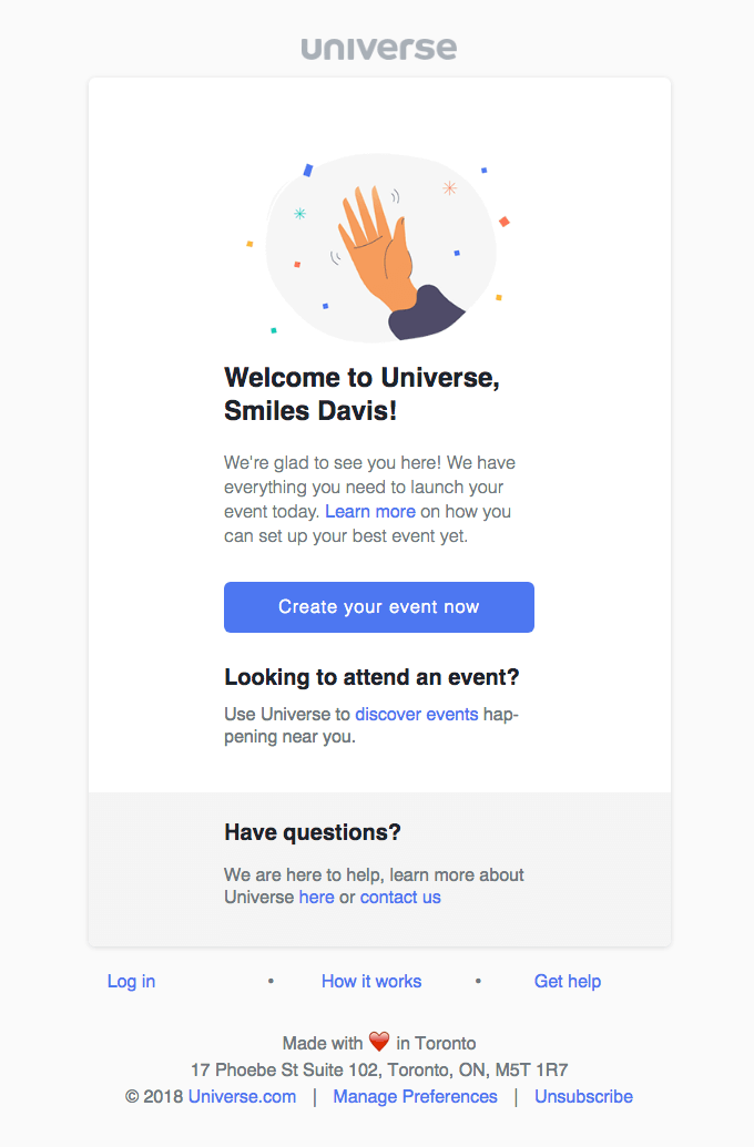 Universe Email