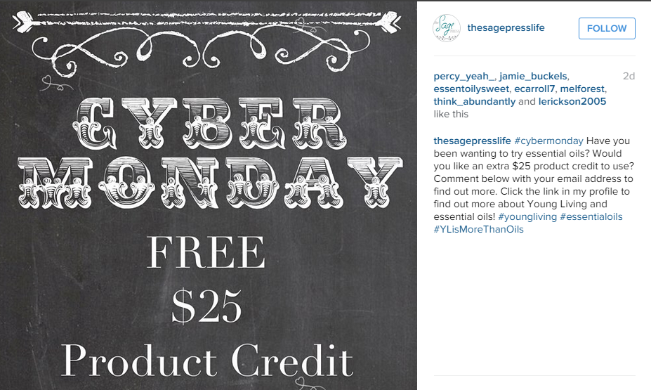 Cyber Monday Instagram Competition