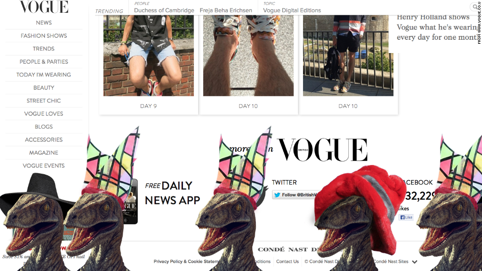 Vogue Website Dinosaurs