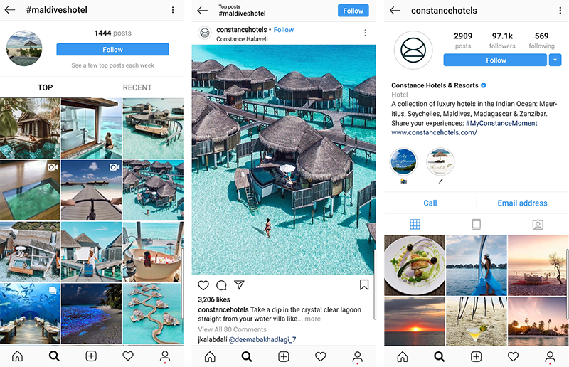 Constance Mobile Marketing Hotel Instagram Hashtags