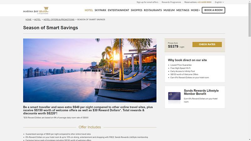 Marina Bay Sands Desktop Website