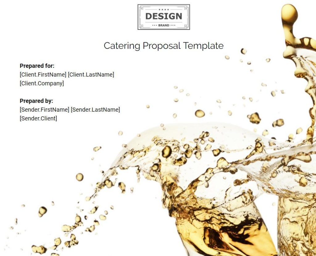 catering proposal template 3