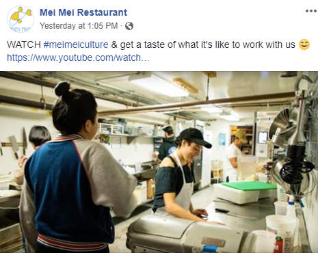 Mei Mei Restaurant Staff Facebook