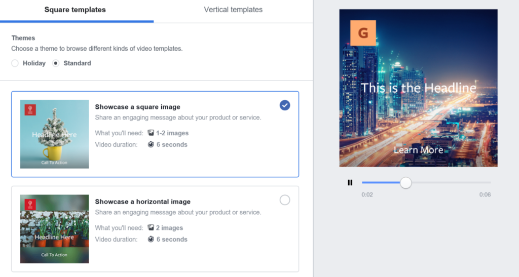 Facebook Advertising Image to Video