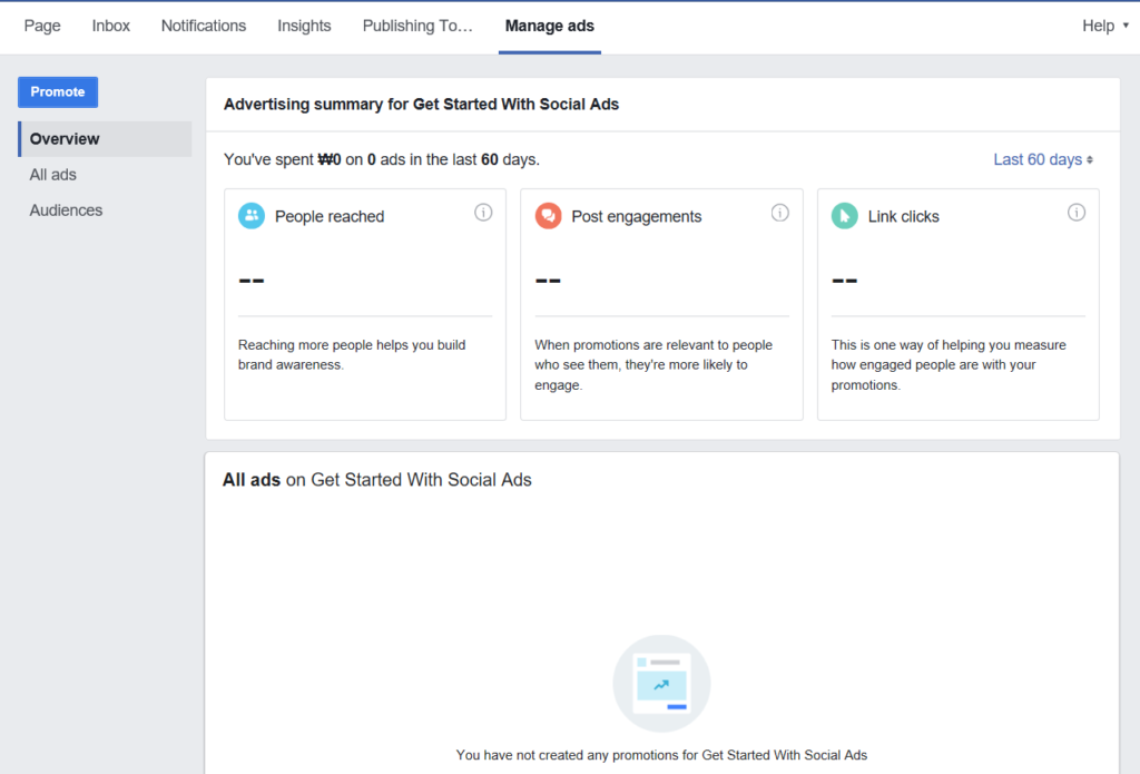 Facebook Advert Manager Overview