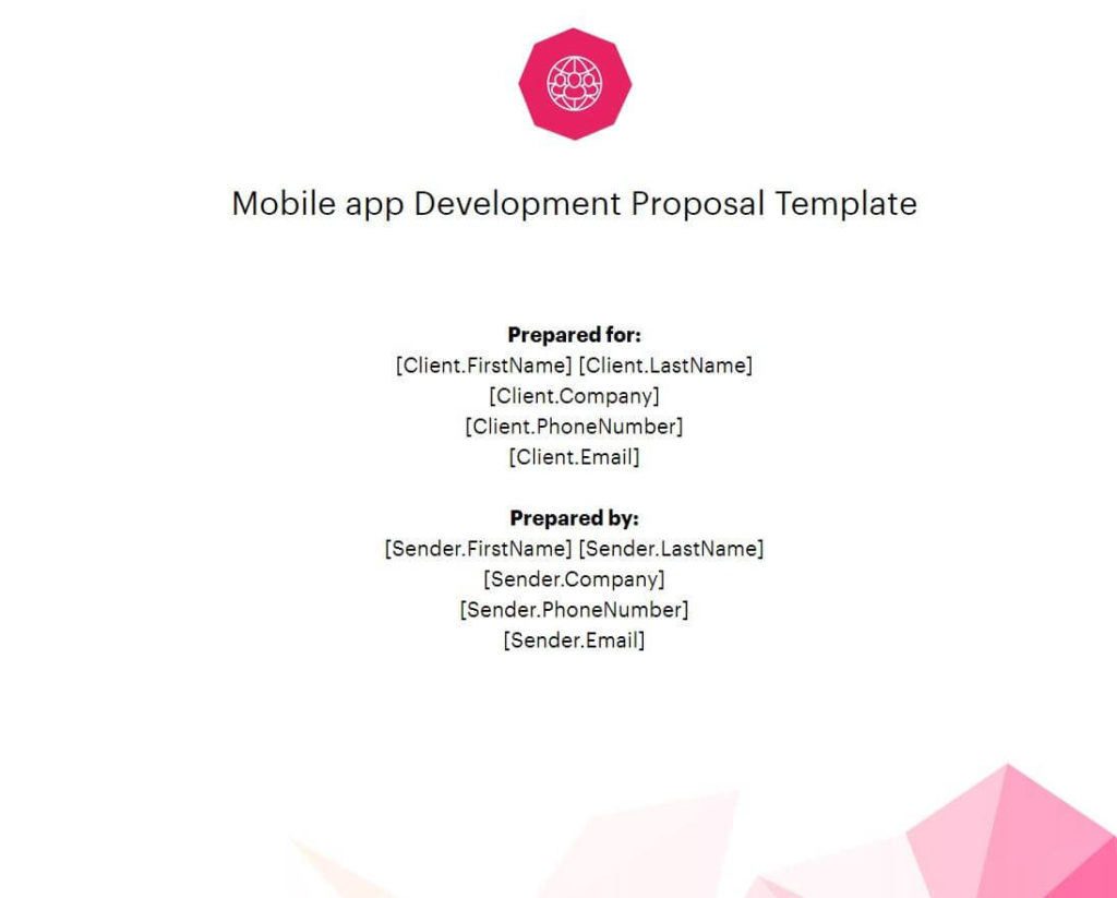 Mobile App Proposal Template