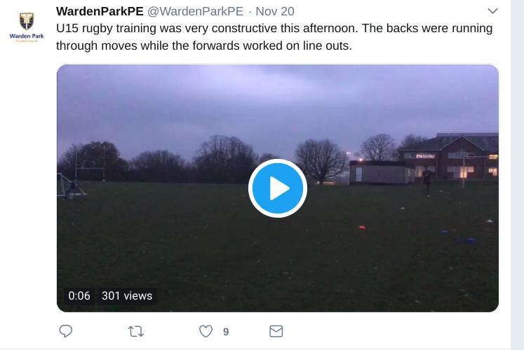 school PE department twitter account tweet 2