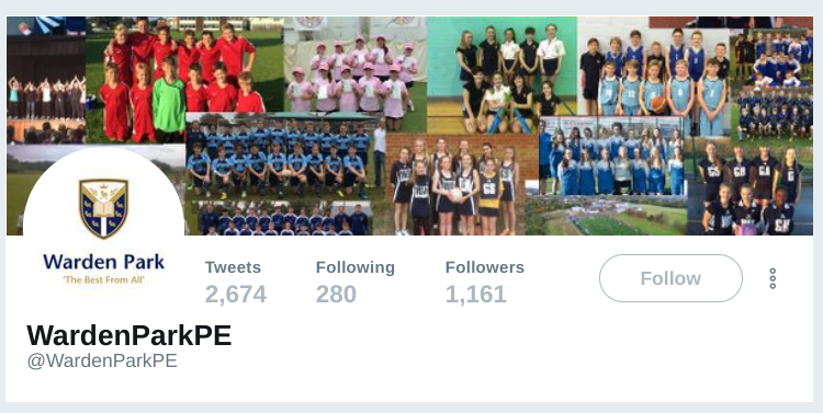 school PE department twitter