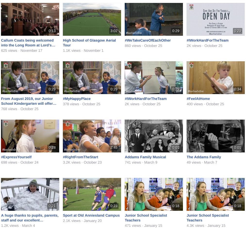 school facebook videos