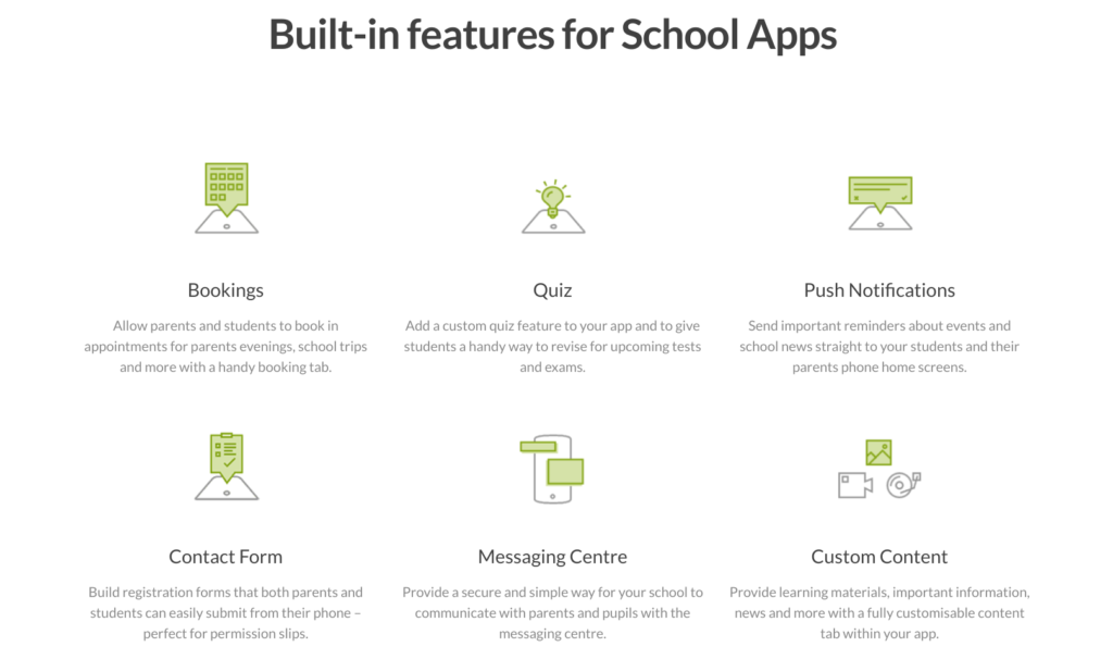 school app features