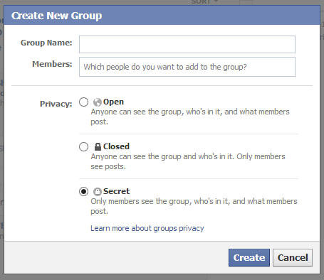 secure facebook group