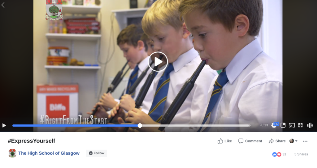 school marketing shareable video