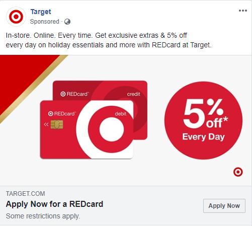 target facebook advert