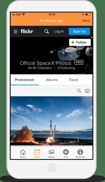 Flickr app integration