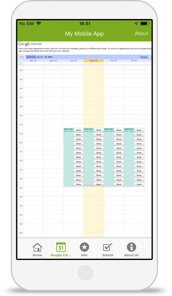 Google Calendar App Integration