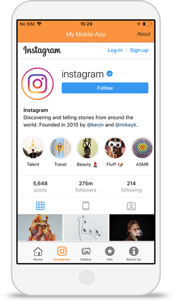 Instagram-Integration