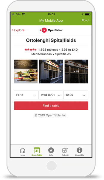OpenTable-Integration