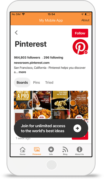 Pinterest-Integration
