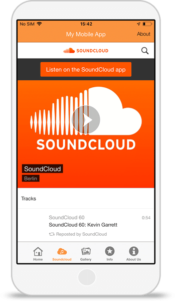 Soundcloud app integration