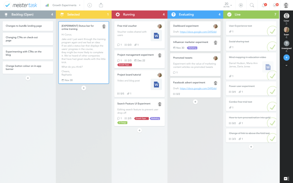 meistertask project management tool