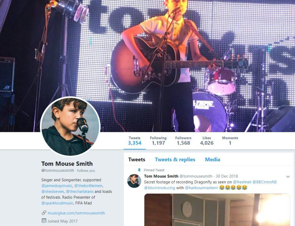tom mouse musician twitter