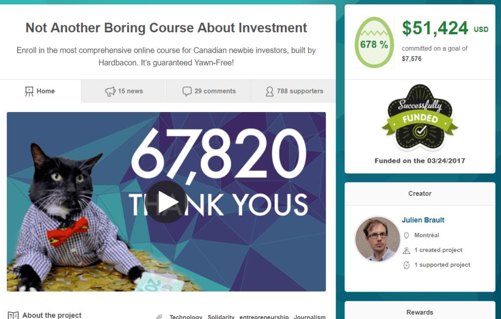 Hardbacon Crowdfunding