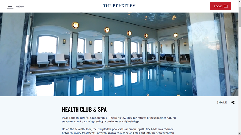 The Berkeley Spa Website