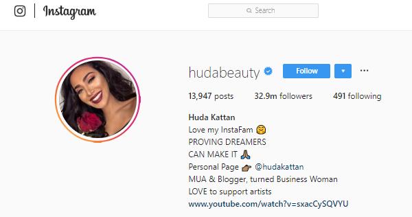 Huda Kattan Instagram