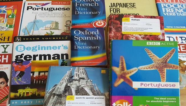 foreign language dictionaries and phrase books