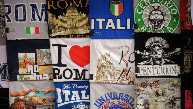 various t shirt designs from rome
