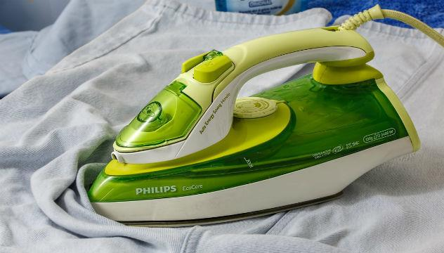 an iron, ironing