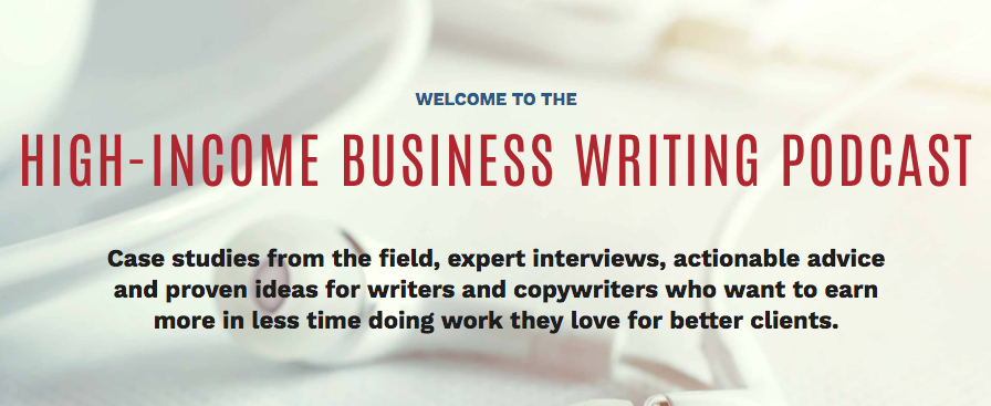 High-Income Business Writing Podcast Landing Page