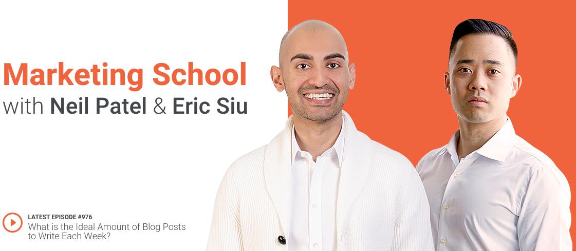 Marketing School Podcast Landing Page