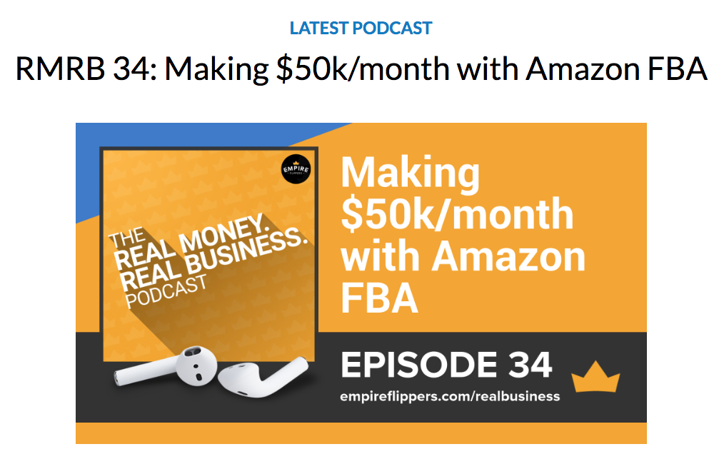 empire flippers podcast landing page