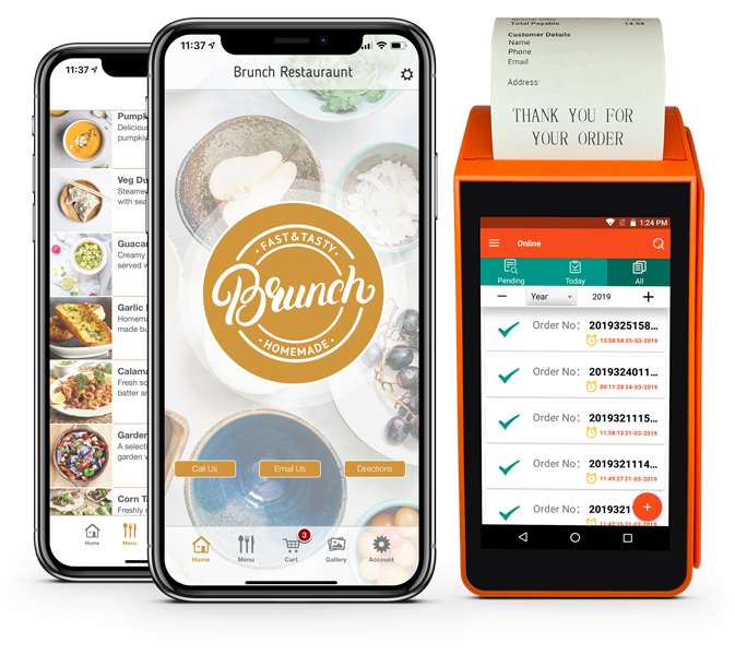food ordering takeaway app and order printer