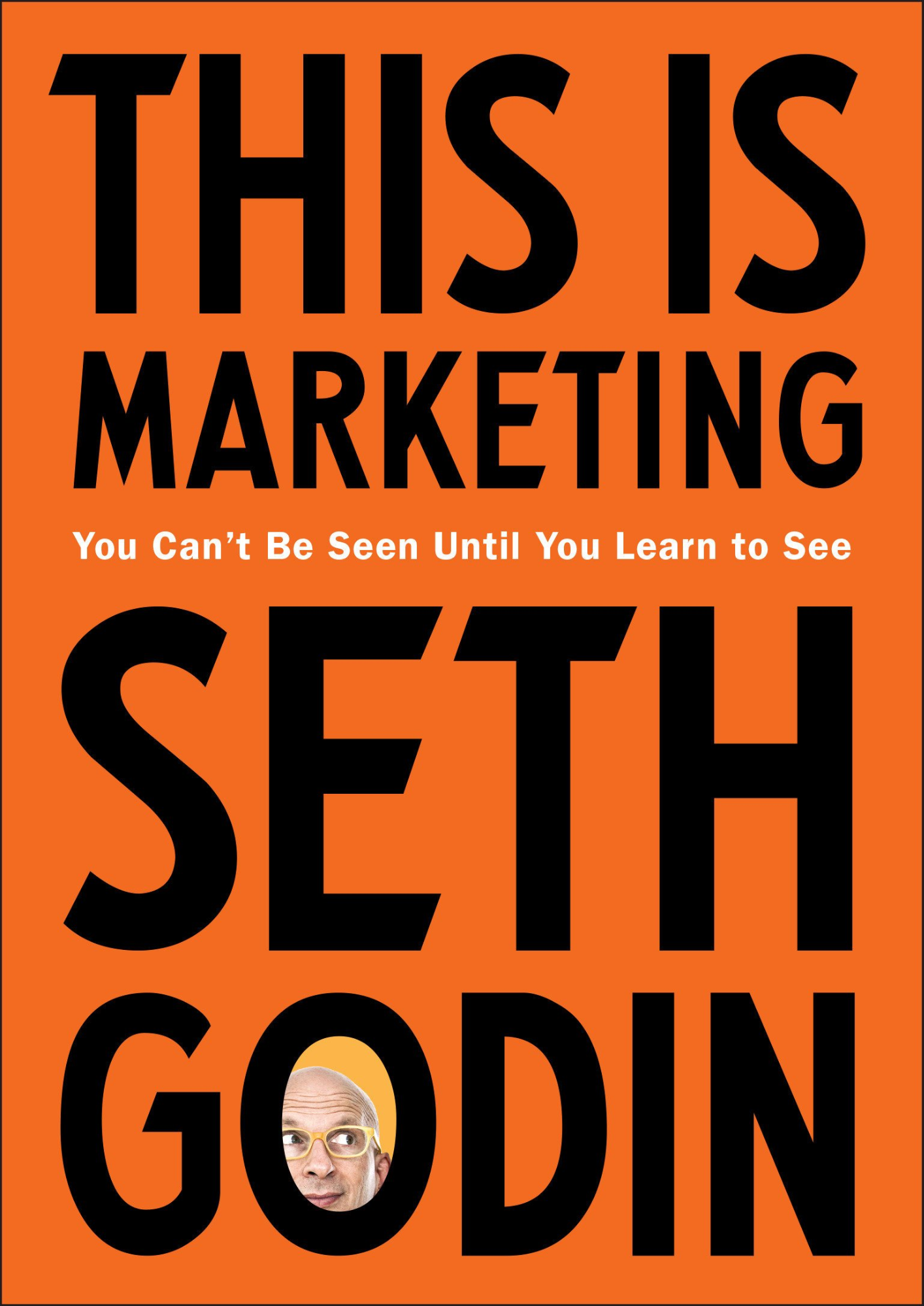 This is Marketing: You Can't Be Seen Until You Learn to See orange book cover