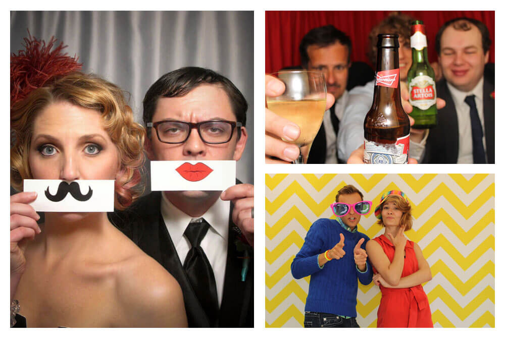 Three Different Photos From a Photo Booth