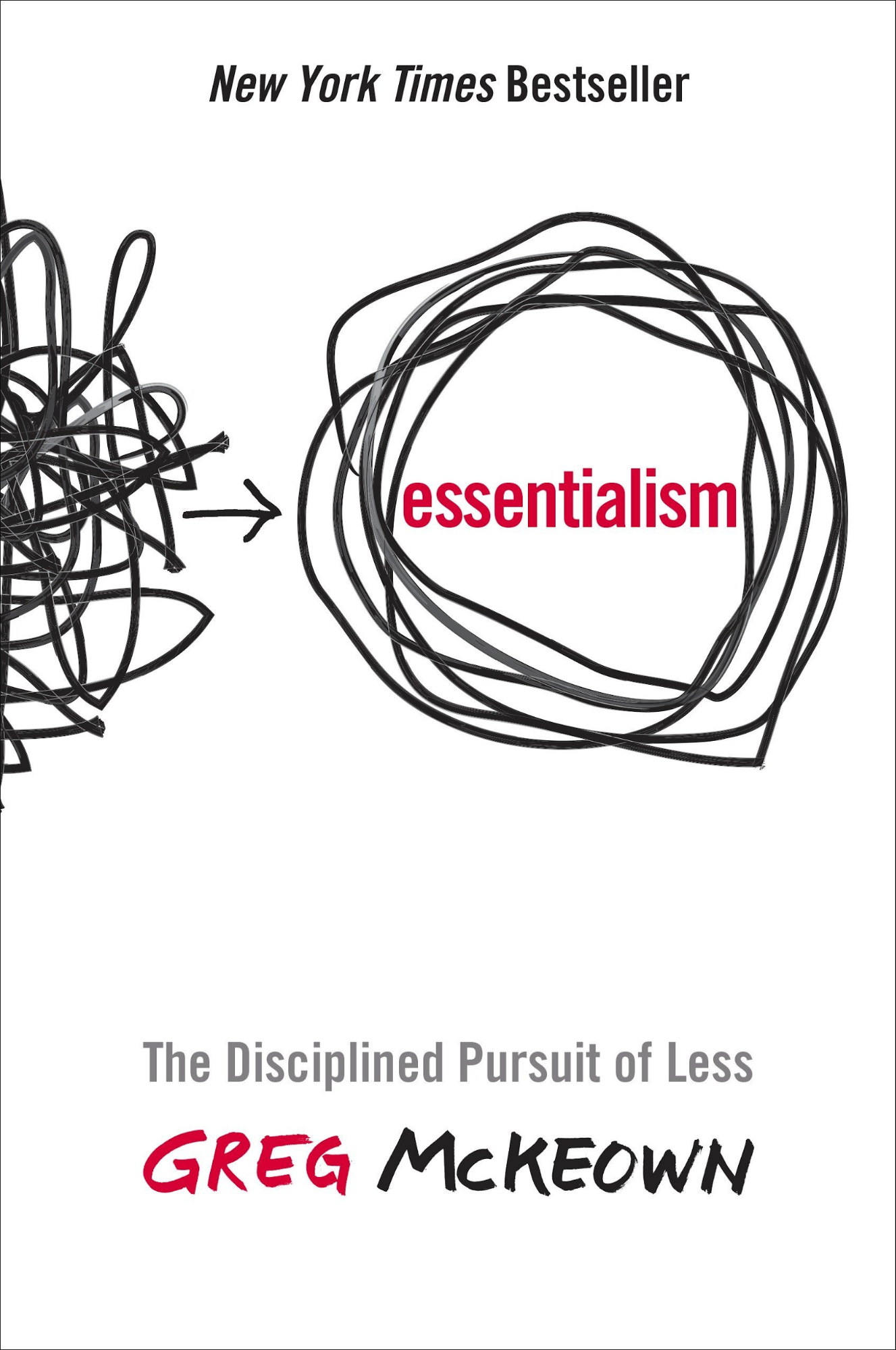 Essentialism: The Disciplined Pursuit of Less book cover