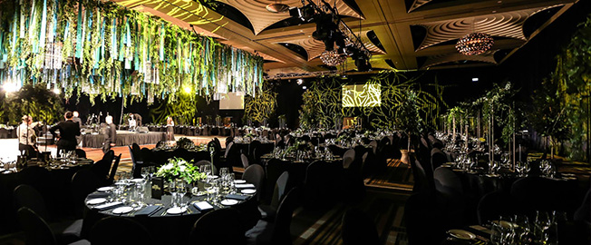 Jungle Themed Evening at a Restaurant