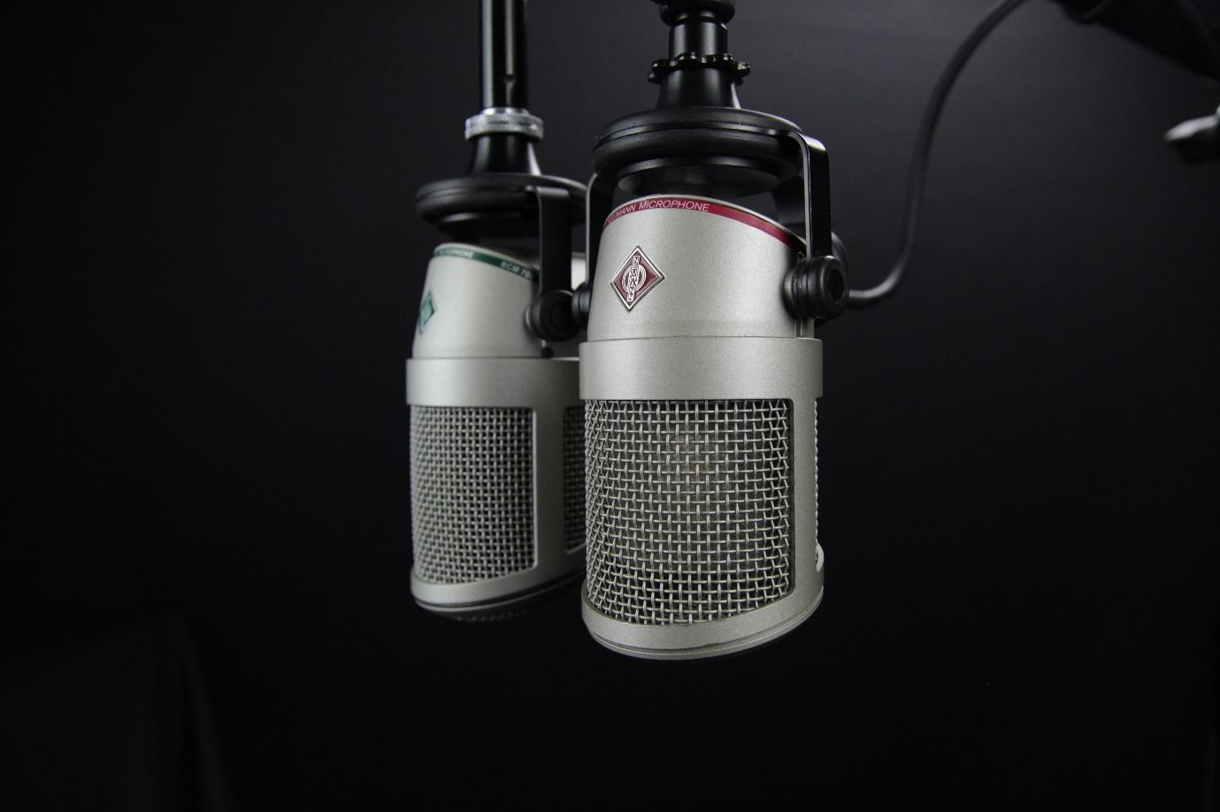 two recording microphones